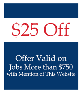 $25 Off on Jobs of $750 or More